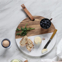 Personalized Cutting Board and Serving Platter, Marble and Wood For Kitchen Gift /Housewarming /Home Decor