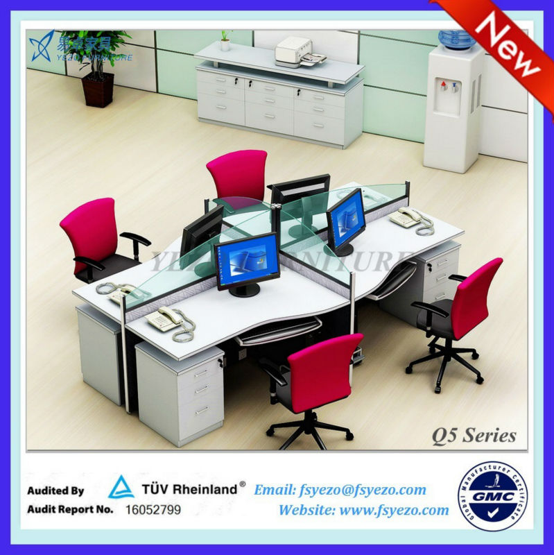 hot sale frameless glass office partition system, modern office workstation