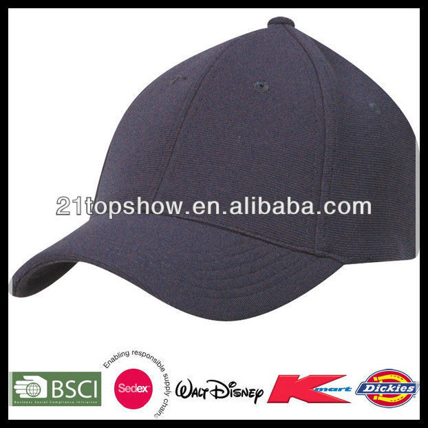 6 panel cheap wholesale blank strap back fitted hats