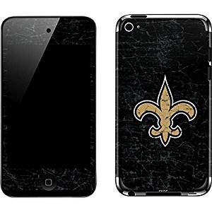 NFL New Orleans Saints iPod Touch (4th Gen) Skin - New Orleans Saints Distressed Vinyl Decal Skin For Your iPod Touch (4th Gen)