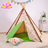 Deluxe indoor play kids tipi tent natural cotton canvas Indian kids teepee tent W08L005
