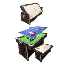 Maken in china Hot Koop Home 4 In 1 7Ft 8ft 9ft Multi Functionele Game <span class=keywords><strong>Snooker</strong></span> Pool Biljart Tafel