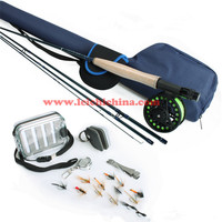 Ultimate starter outfit set fly fishing rod and reel combo