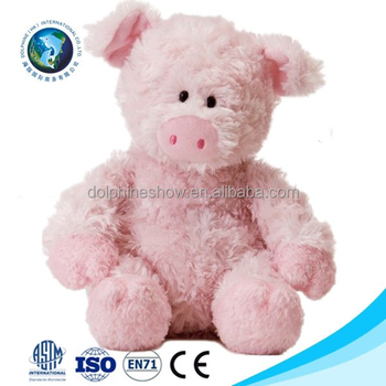 european standard promotional soft toy pink pig custom cute stuffed soft plush valentine pig - Valentine Pig