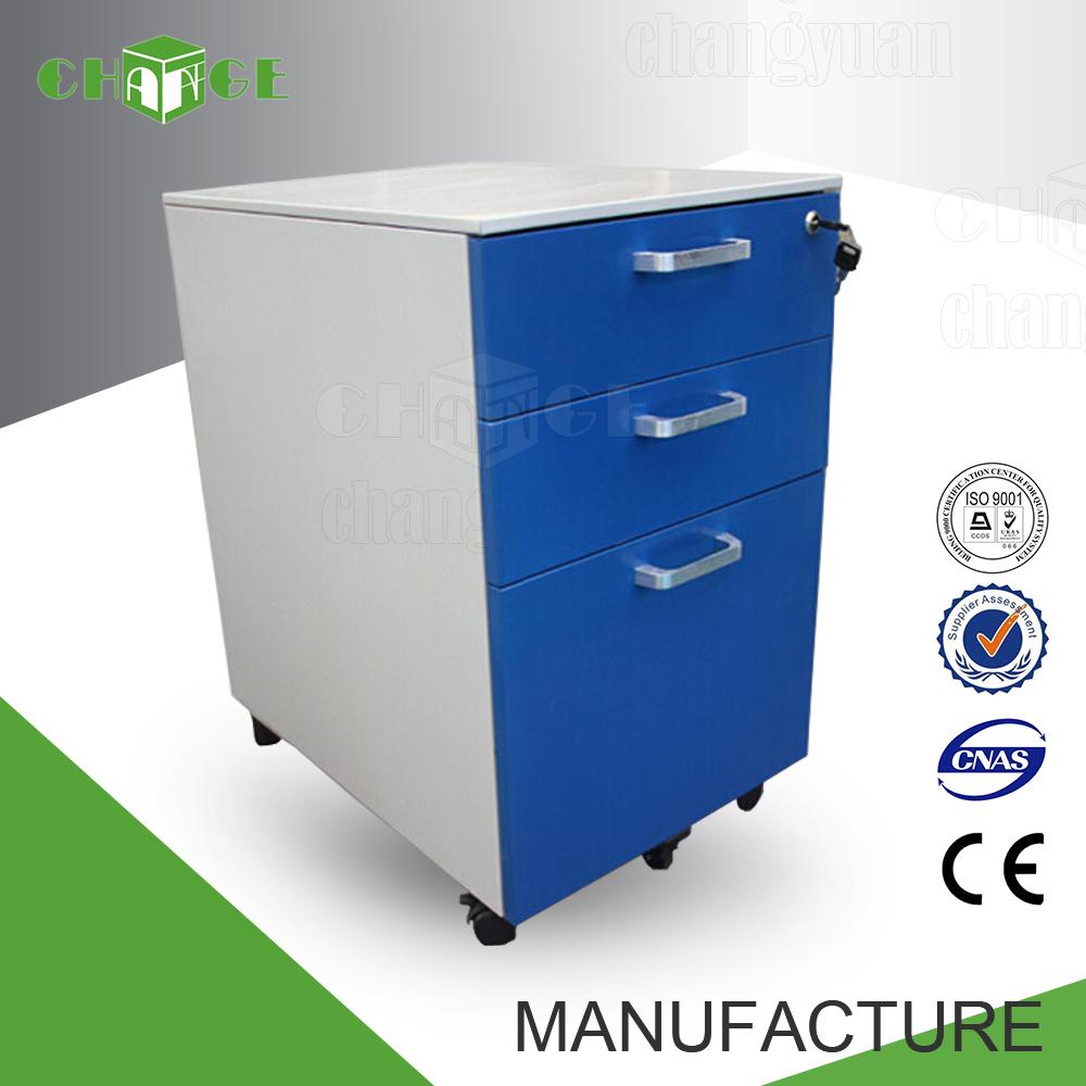 Iso standard bureau m tallique mobile 3 tiroir sous le for Meuble tiroir sous bureau