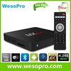 Wesopro 0226 android smart tv converter box set top box android tv box MX Plus ROM 8GB bluetooth IR OTG qwerty XBMC KODI
