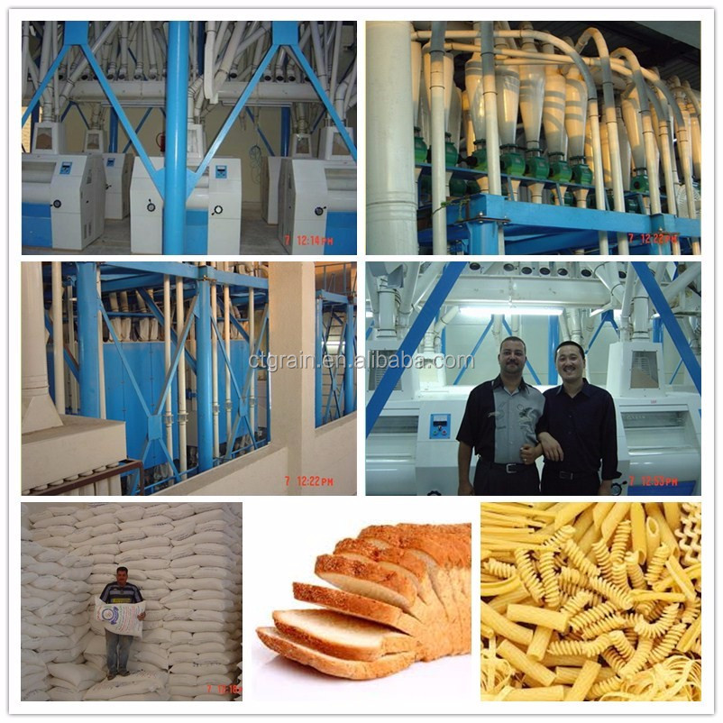 CTGRAIN wheat flour mill for bread making with roller wheat flour mill price