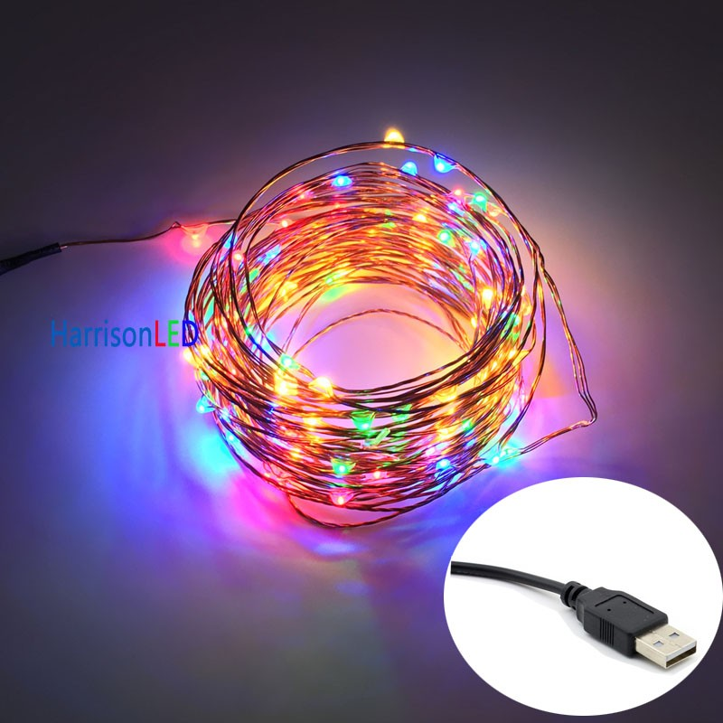 Silver Copper Green Red Black Clear Wire Dimmable Led String Lights - Buy Dimmable Led String ...