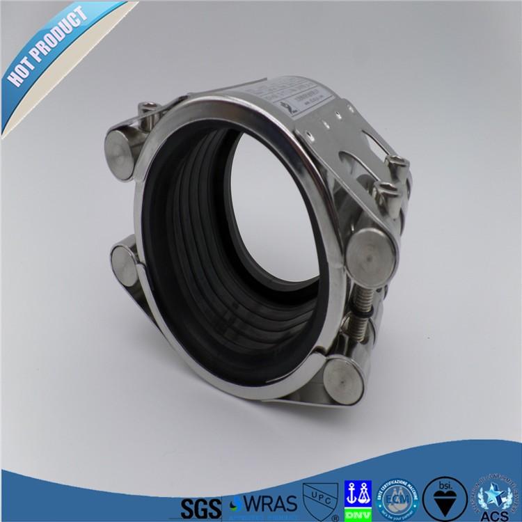 Ductile iron dalian pipe fitting rubber water coupling