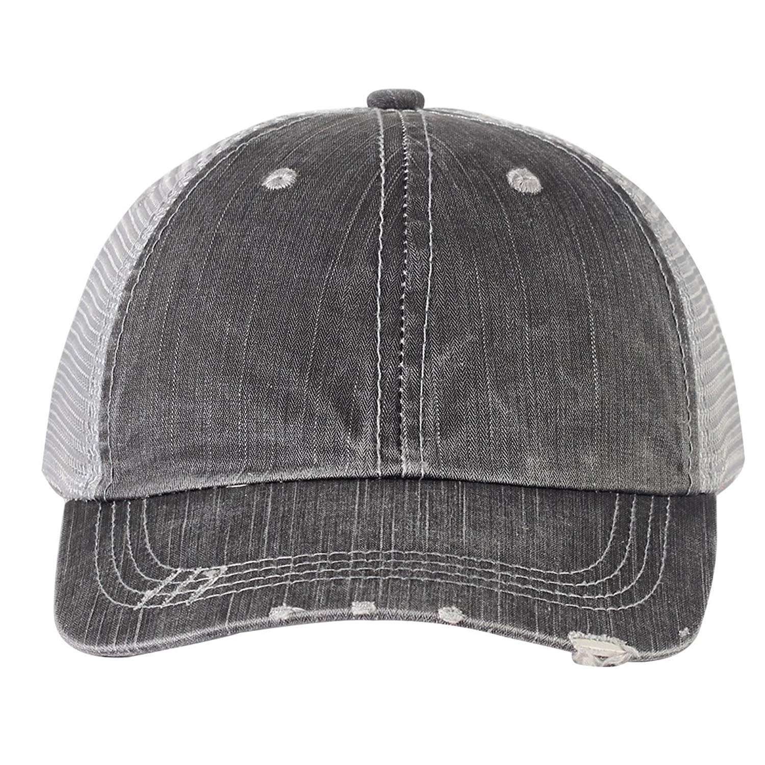 Vintage Washed Cotton Low Profile Mesh Baseball Cap Adjustable Distressed  Trucker Hat e5799164c958