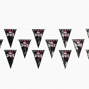 Factory price cheap durable custom printing outdoor decorative pennant triangle string with rope mini polyester country flags