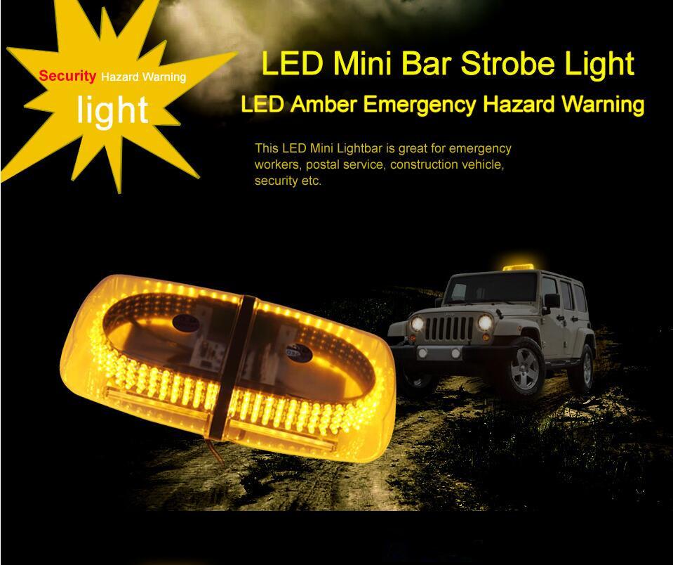 240 из светодиодов янтарный аварийного предупреждения об опасности из светодиодов мини-бар вспышка света ж / магнитным основанием