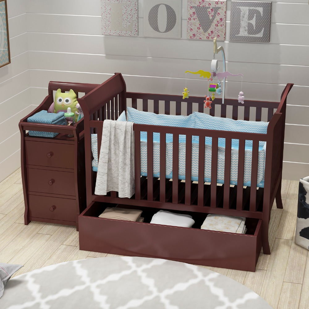 Venta al por mayor dise o de cunas de madera compre online for Muebles bebe diseno