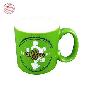 Wholesale high quality ceramic cup green milo mug