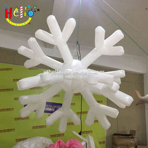 Hanging inflatable Christmas snowflake for Christmas Decoration