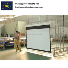 Motorized projector screen with remote control ,Front projection screen vinyl