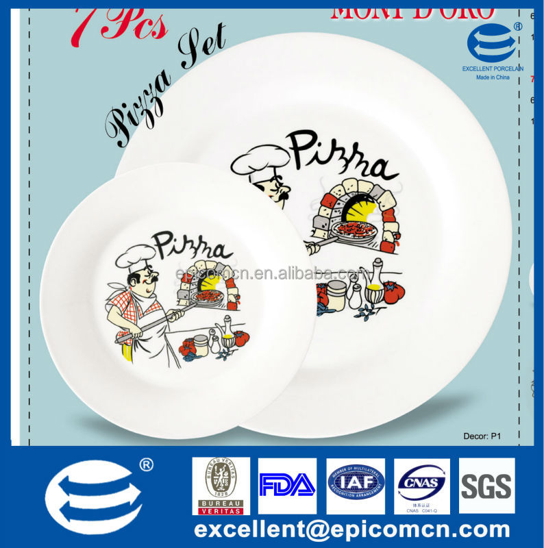 Syrian 7pcs porcelain pizza set with 6pcs 19cm dessert plate and 1pc 30.5cm dinner plate  sc 1 st  Alibaba & Syrian 7pcs Porcelain Pizza Set With 6pcs 19cm Dessert Plate And 1pc ...