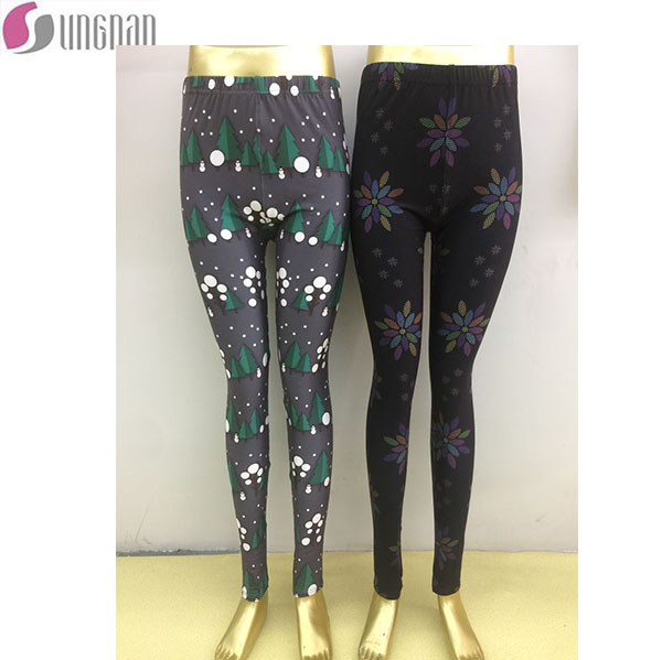 Wholesale 92 Polyester 8 Spandex Super Soft Brushed Women Leggings mandala printing