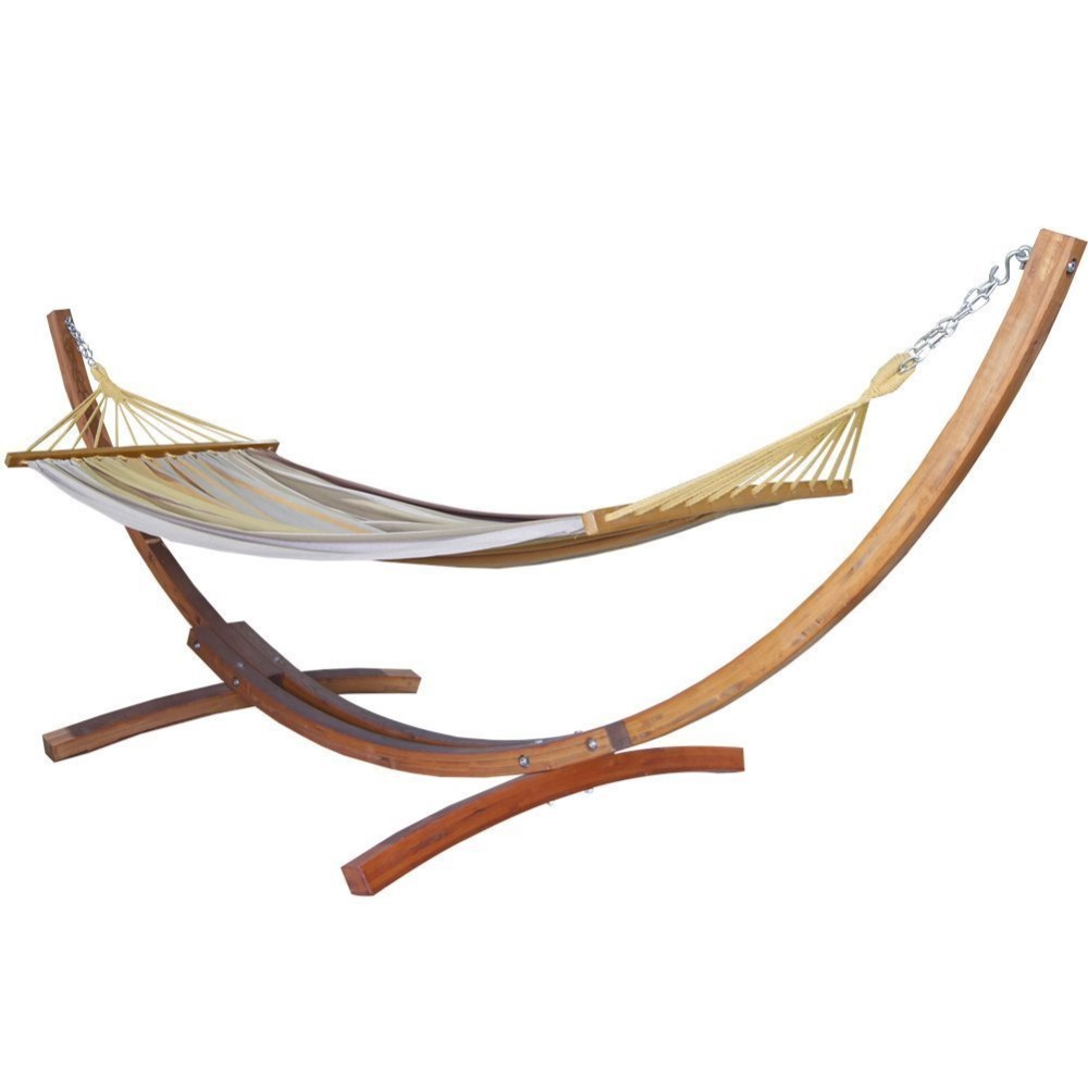 outsunny on onbuy hammock with arc hammocks frame stand wooden gb