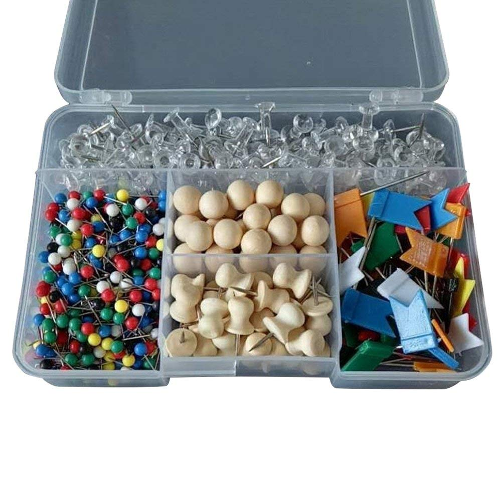 Aimeely Various Decorative Thumbtacks Colorful Office Home Push Pins Set of 700 Count