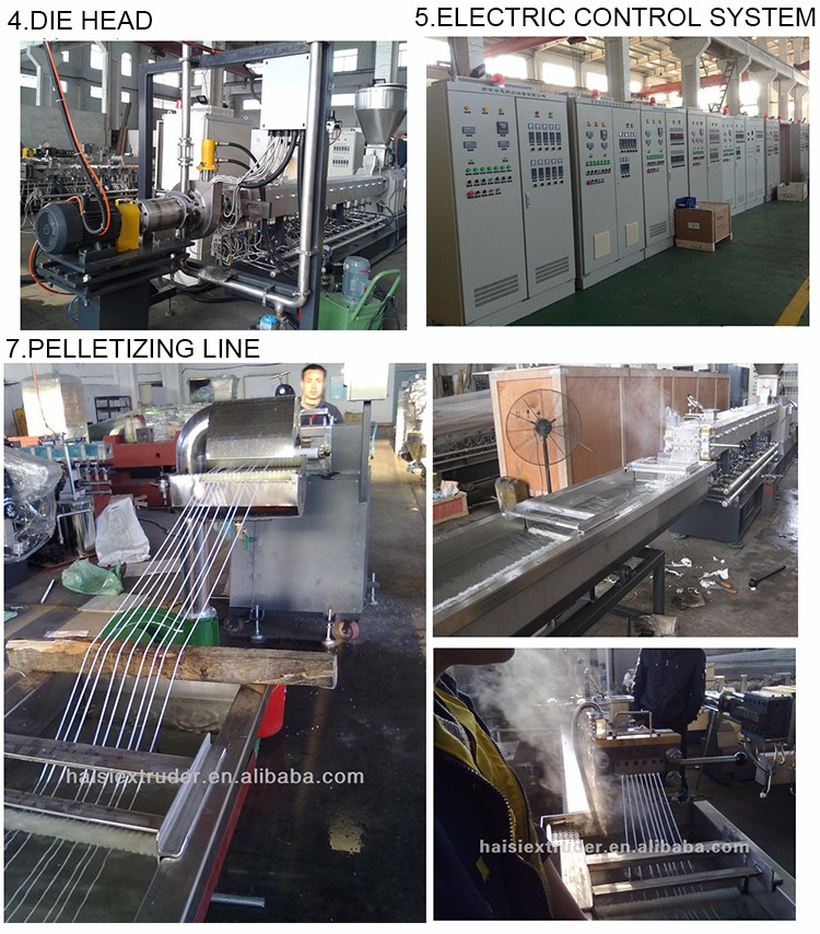 Plastic Recycling HDPE LDPE Twee Stage Plastic Granulator/PP PE Film Extruder