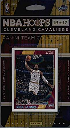 2016-17 Panini NBA Hoops FACTORY SEALED Cleveland Cavaliers Team Set of 11 Cards: LeBron James(#17), Kyrie Irving(#18), Kevin Love(#19), Mike Dunleavy(#20), Tristan Thompson(#22), Channing Frye(#170), Iman Shumpert(#171), Richard Jefferson(#172), Mo Williams(#173), Chris Andersen(#183), Kay