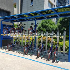 Double decker bicycle parking rack display for bikes