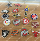 3d custom die cut self adhesive embossed metal sticker