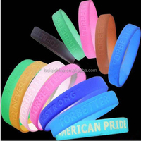 New products 2020 glow in the dark silicon bracelet wrist band customized