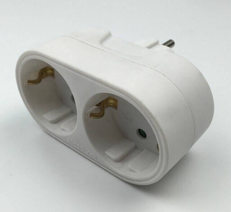 16a 250v Ac Eu Double Plug Socket Adapter
