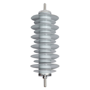Medium Voltage Electric Power Line Material 27kV 5kA 10kA Metal Oxide Silicone Surge Arrester