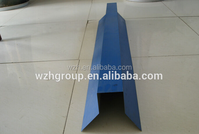 2015 new types of ridge tile /Ceiling ridge cover made of color steel sheet for warehouse/workshop roof