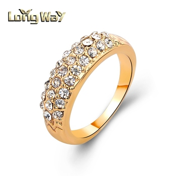 2015 New Design Fully Rhinestones God Wedding Ring For Women View