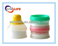 Promotional Pwder Milk Bottle Three Compartments Milk Powder Dispenser Container