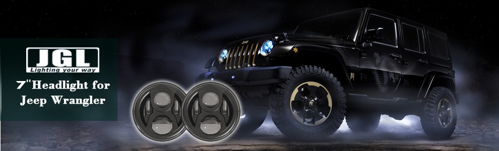 E-marked Approved 7 Inch Cree Led Car Head Light For Wrangler ...