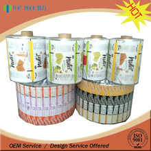 Cosmetic use accpet automatic filling packaging bag film roll