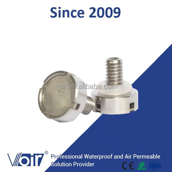 Stainless steel Screw Breather Valve M5*0.8 Pressure compensation plug