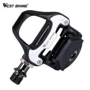 WEST BIKING Sealed Bearing DU Road Cycling Pedals Ultralight Cycling Part SPD-SL Bike Self-locking Pedals Road Bicycle Pedal