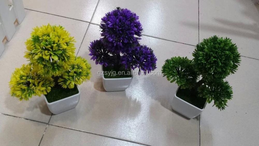 artificial planta en maceta pequea mesa de plstico macetas de csped artificial bola de rbol