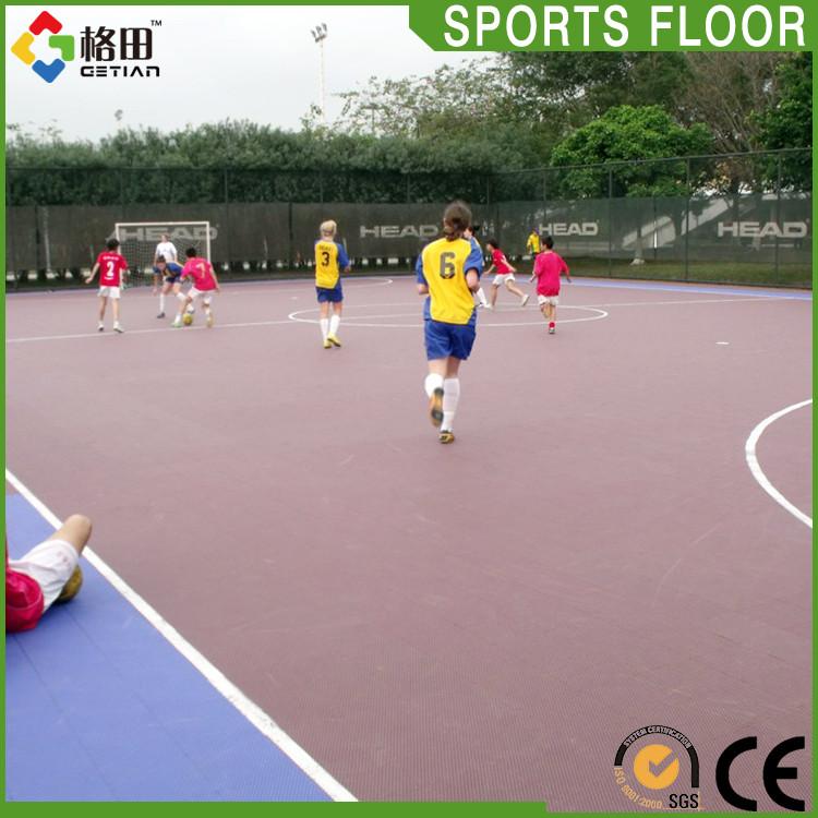 Low price practical sport outdoor futsal court flooring for Sport court flooring cost