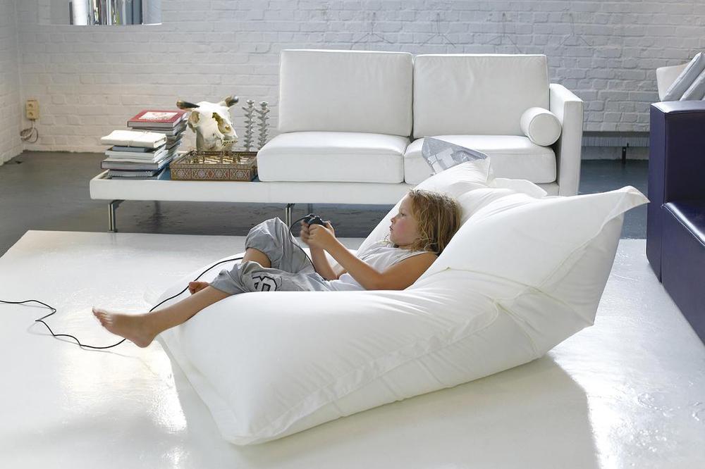 Lazy Beanbag Single Sofa Bed Fashion Stripe Print Bean Bag Sofa