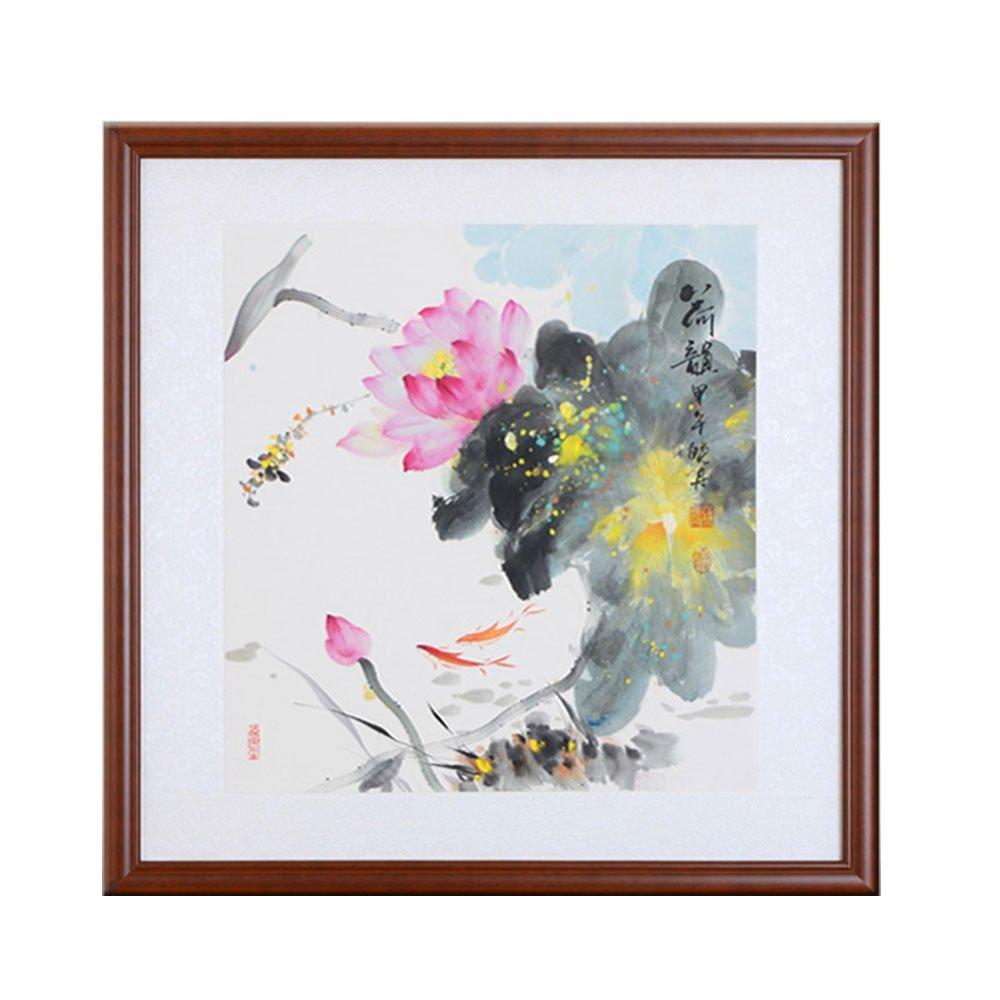 183ca2488 ChinaArt Original Chinese Ink/Brush Artwork Lotus- Traditional Oriental  Watercolor Painting,Flower&Fruit Painting,Wall Art Painting - Asian Fine Art  (Lotus)