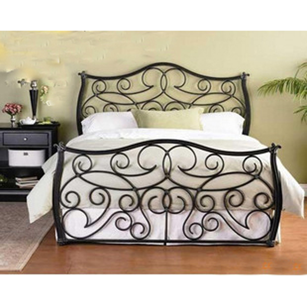 King Size Wrought Iron Bed Frame Design