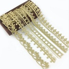Embroidered Lace Trim for Gold Lace Trim Lace Ribbon Decorative Trim for Lolita Dress