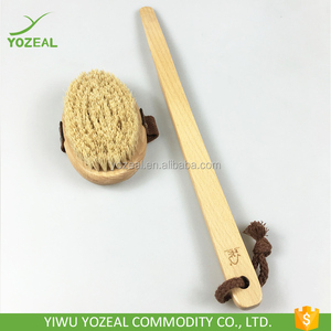 Professional detachable dry skin exfoliating wooden bath body brushes