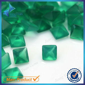 variety shape Customize loose natural green agate stone