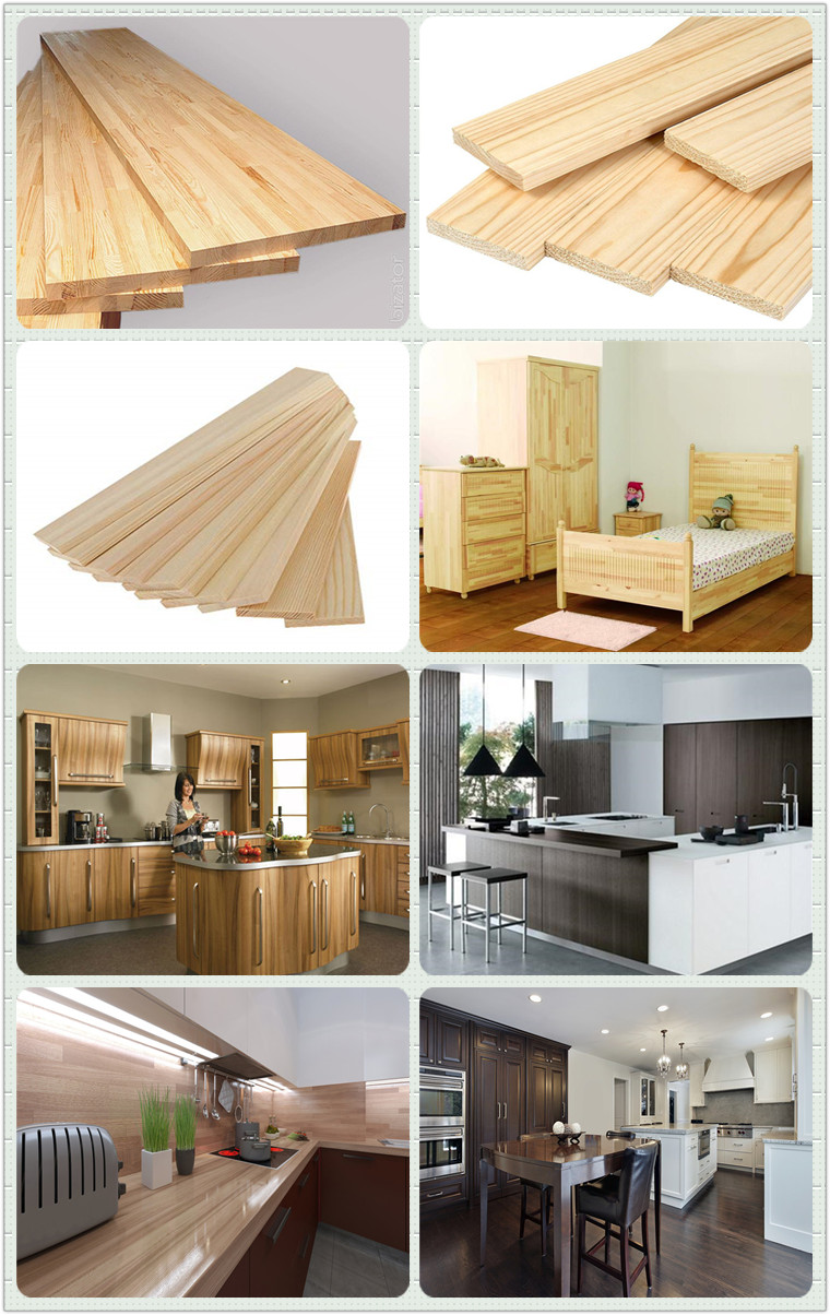 Shanghai Qinge paulownia fir spruce gloss laminated board manufacturers for shelves with ISO certificate