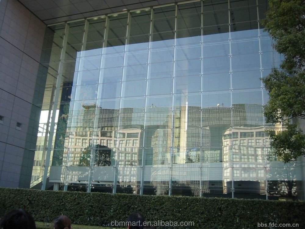 Point Fixed Curtain Glass Wall Construction Project Building ...