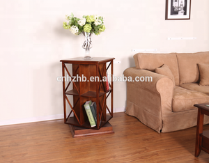 High quality hot selling wooden modern revolving bookcase
