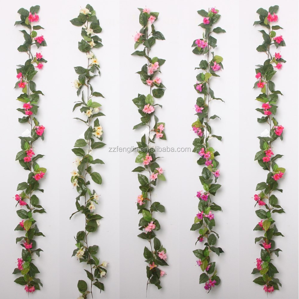 Silk flower garlands wholesale images flower decoration ideas 170cm silk cherry blossom flower garland wholesale artificial flower artificial flower vine 170cm silk cherry blossom mightylinksfo